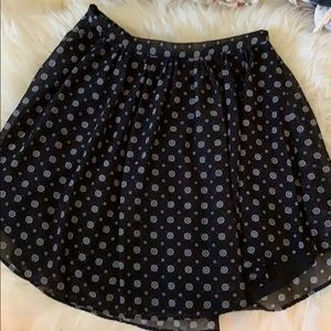 H&M black print skirt